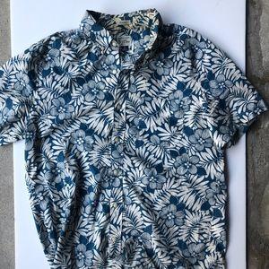 Classic Cotton Short Sleeve Jcrew Floral Shirt